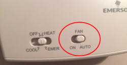 ON vs Auto setting on your thermostat